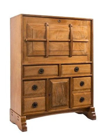An Arts and Crafts Secretaire Cabinet (FS24/868) by celebrated cabinet maker Peter Waals (1870-1937), which fetched £34,000 in October 2014.