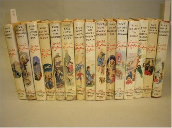 A set of Enid Bliyton Books.