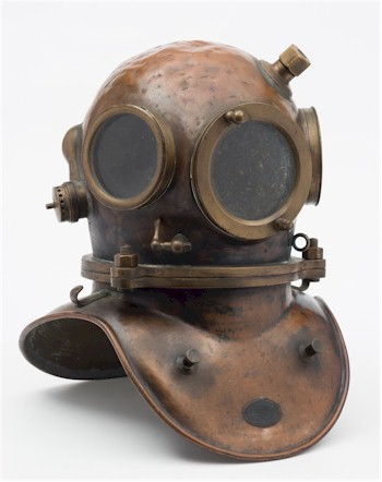 A diving helment from the Tony and Yvonne Pardoe Collection, which will be auctioned in June 2016. We have used the Internet and social media to generate considerable interest from a global audience in this niche collection months before it is due to be sold.