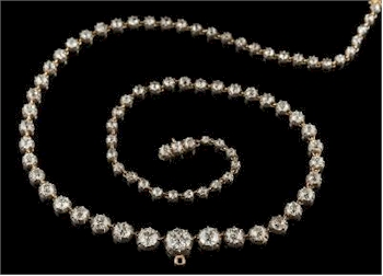 A Late 19th Century Graduated Diamond Riviere Necklace (FS34/348), which realised