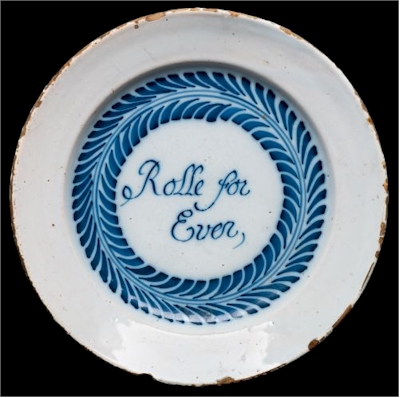A Bristol delft electioneering plate: Rolle for Ever.