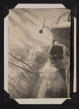 a photograph by francis davies aboard a rolling rrs william scoresby on route to antarctica 1929