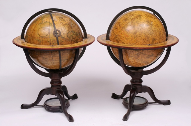 a pair of regency table globes by dudley adams (fs18/756)
