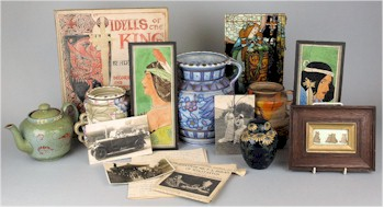 A selection of ceramics, paintings, sketches and ephemera from the Rhead-Cronin Collection.