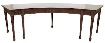 A George III Mahogany Sideboard Table from Rockbeare Manor near Exeter in Devon.