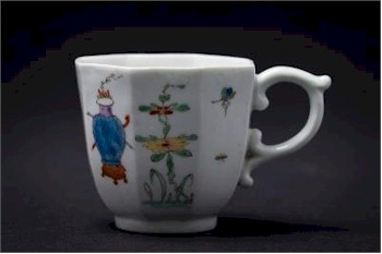 A Fine Early Worcester Polychrome Coffee Cup