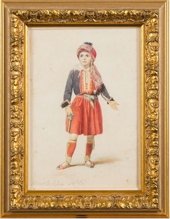 A portrait of Mustapha Ali, a young Turkish Boy, attributed to Thomas Charles Wageman.