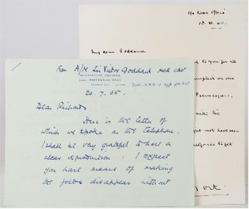 An Original Signed Letter by General BL Montgomery