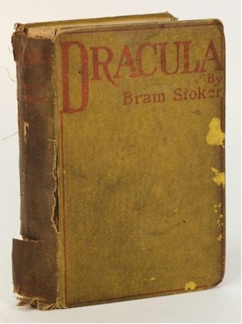 The Autumn 2014 Rare Book Sale has a real rarity in a 1897 first edition of Bram Stoker's Dracula (BK12/237), which carries