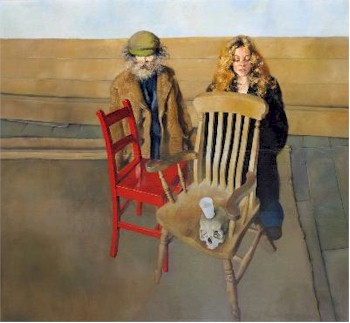 Diogenes and Belle at Prayer with Chairs (SF20/110) by the artist Robert Lenkiewicz