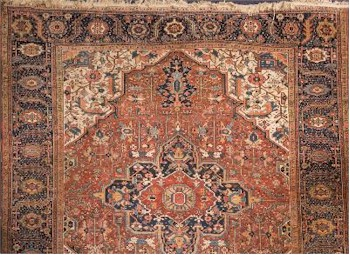 A Heriz Carpet (FS31/913) offered in our Two Day Fine Art Sale starting on 12th July 2016 at our salerooms in Exeter, Devon.