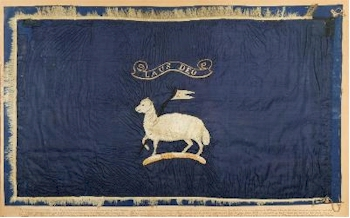 A Rare and Well Preserved Arctic Exploration Sledge Flag For Admiral George Richards
