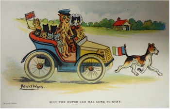 Louis Wain Motor Car.