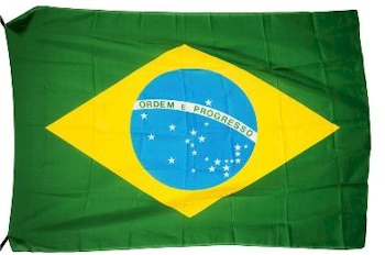 The Brazilian National Flag Used on the Parade Lap and Podium of