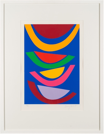Terry Frost, RA (1915-2003): Swing Blue. A silkscreen print; image size 46x31.5cm.