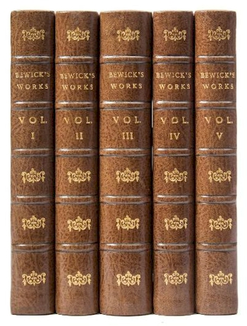 A five volume Memorial Edition Set of Thomas Bewick's Works (BK21/241), offered