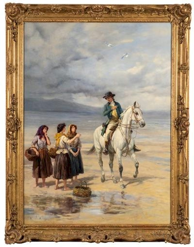 Heywood Hardy (1842-1933) - Lost on the Sands (FS49/1582) offered in our Three