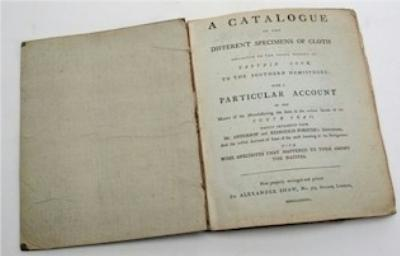 Sale BK5; Lot: 0334: A Catalogue of the different Specimens of Cloth Collected in the Three Voyages of Captain Cook to the Southern Hemisphere.