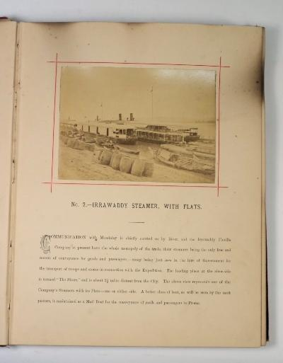 GRAHAM, Robert Blackall - Photographic Illustrations, with Description of Mandalay and Upper Burmah Expeditionary Force 1886-87.map and 59 albumen photographs, 4to, cl. cover affected by damp.