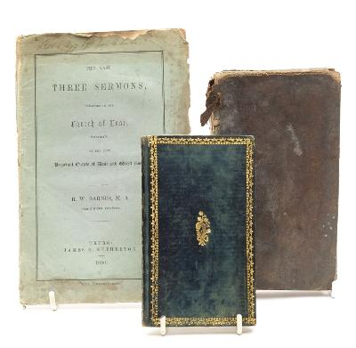BARNES, RW - The Last Three Sermons, Preached in the Church of Looe, Cornwall original wrappers, 8vo, Truro, 1850; with a book of psalms, and one by John Wesley.