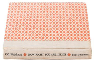 WODEHOUSE, PG - How Right You Are, Jeeves original cloth backed decorated boards, 8vo, Simon & Schuster, Author's signed copy, first ed. 1960. * with Walter Citrine's bookplate, and author's presentation inscription, '' To Lord Citrine with a million thanks for Acton and all the help on SERVICE WITH A SMILE x PG. Wodehouse x That is the title at present, but I bet they will want to change it - They always do!''.