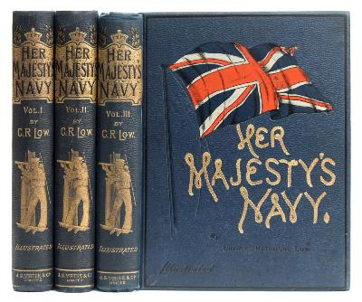 Sale BK19; Lot: 0342: LOW, Lieut. Charles Rathbone - Her Majesty's Navy, 3 vols, chromo-lithograph plates, original cloth, 4to, n.d.