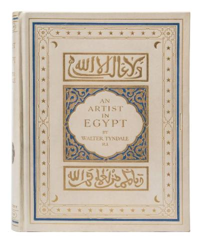 Sale BK21; Lot: 0252: TYNDALE, Walter - An Artist in Egypt 27 tipped-in colour plates, original full gilt vellum, 4to, Hodder & Stoughton, limited edition of 150 copies numbered and signed by the artist, (1912) *Note some foxing otherwise a very fresh bright copy.