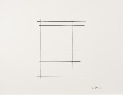 Justin Knowles [1935-2004] - S.109.01, linear form,- initialled, numbered and dated JK 1/7 '02 screenprint, sheet size 50 x 65cm, unframed, together with five similar.