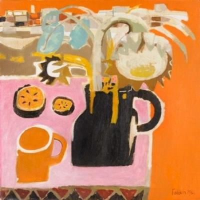 Sale FS11; Lot: 0334: Mary Fedden (b 1915) - Pink and Orange, signed and dated 1966.