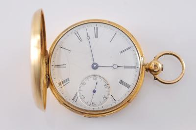 Hyam Hyams. A Lady'S18ct Gold Cased Key-wound Hunting-cased Pocket Watch