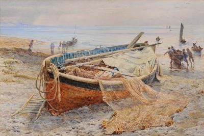 British School 19th Century Mackerel in the bay signed with a monogram CRH? watercolour 33 x 50cm.