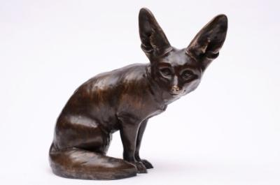 Sale FS18; Lot: 0743: Edouard Marcel Sandoz (1881-1971), a patinated bronze study of a Fennec Fox circa 1920s, impressed with Susse Freres foundry mark, inscribed Susse Frs Edts, Paris, cire perdue and signed M Sandoz, 29cm high.