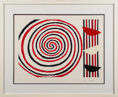 Sir Terry Frost [1915-2003] - Spirals (2003) - screen print and collage signed and numbered 109/125in pencil in the bottom margin sight size 43 x 55cm.