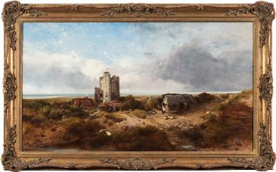 Henry Bright [1814-1873] - Orford Castle, Suffolk - signed and dated 1837 bottom left oil on canvas 60.5 x 108cm.