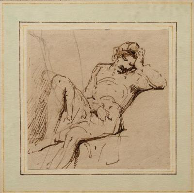 George Jones [1786-1869] - Sleeping Man; Reclining Woman