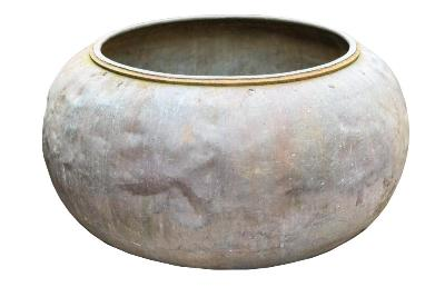 Sale FS37; Lot: 1011: A large copper still of squat circular form, 123cm diameter.