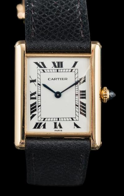 Cartier. A Lady's 18ct Gold 'Cartier Tank Louis' Wristwatch
