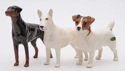 A Group of Three Beswick Dogs