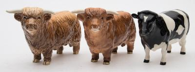 Two Beswick Models of Highland Cattle
