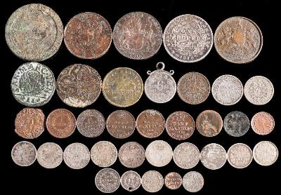 A Mixed Group of Mainly Foreign Coins