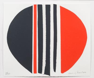 Sir Terry Frost [1915-2003] - Red and Black, squeezed - screenprint signed and numbered 86/100 23 x 27.5cm.